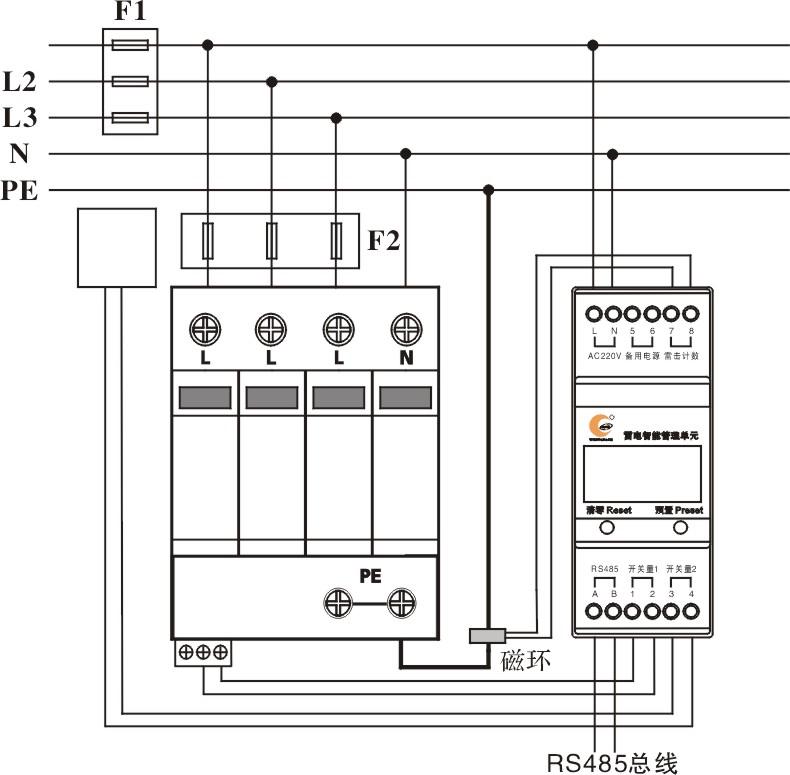 智能雷电计数器