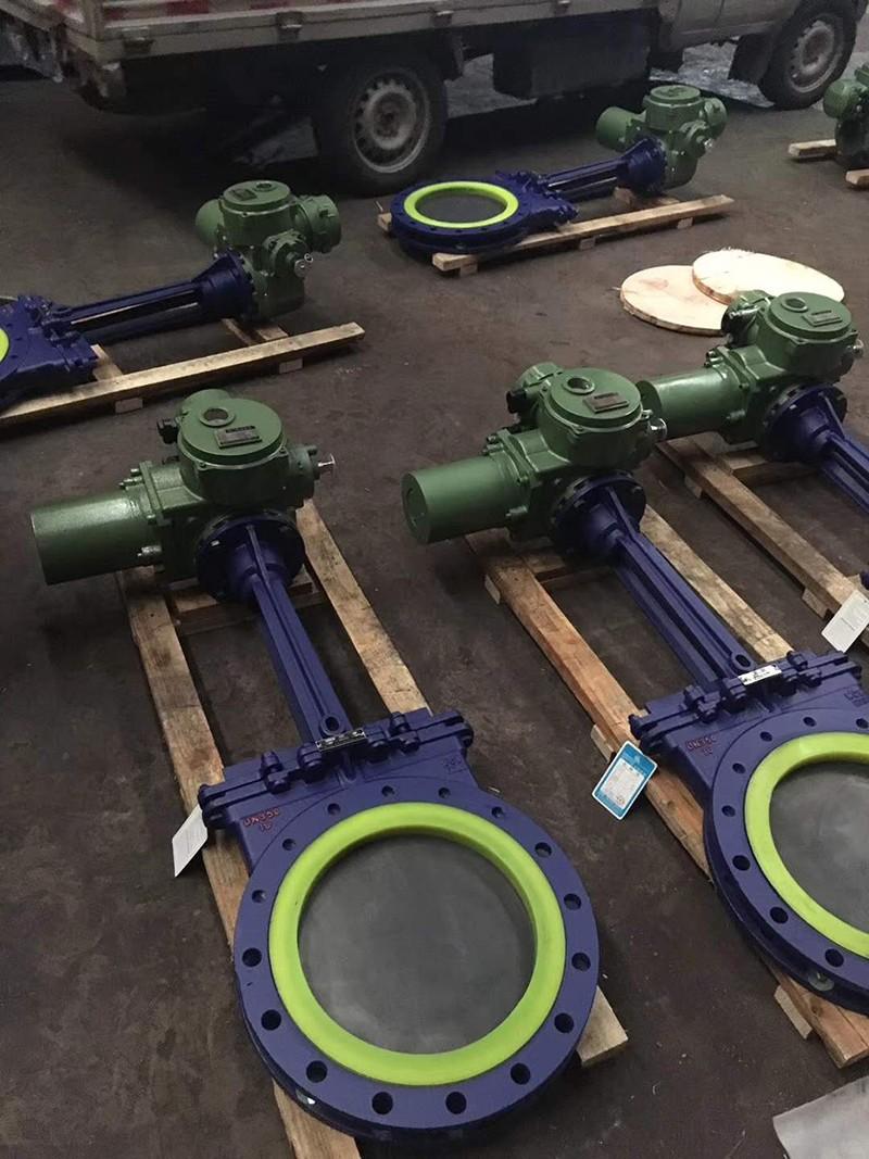 電動聚氨酯刀型閘閥