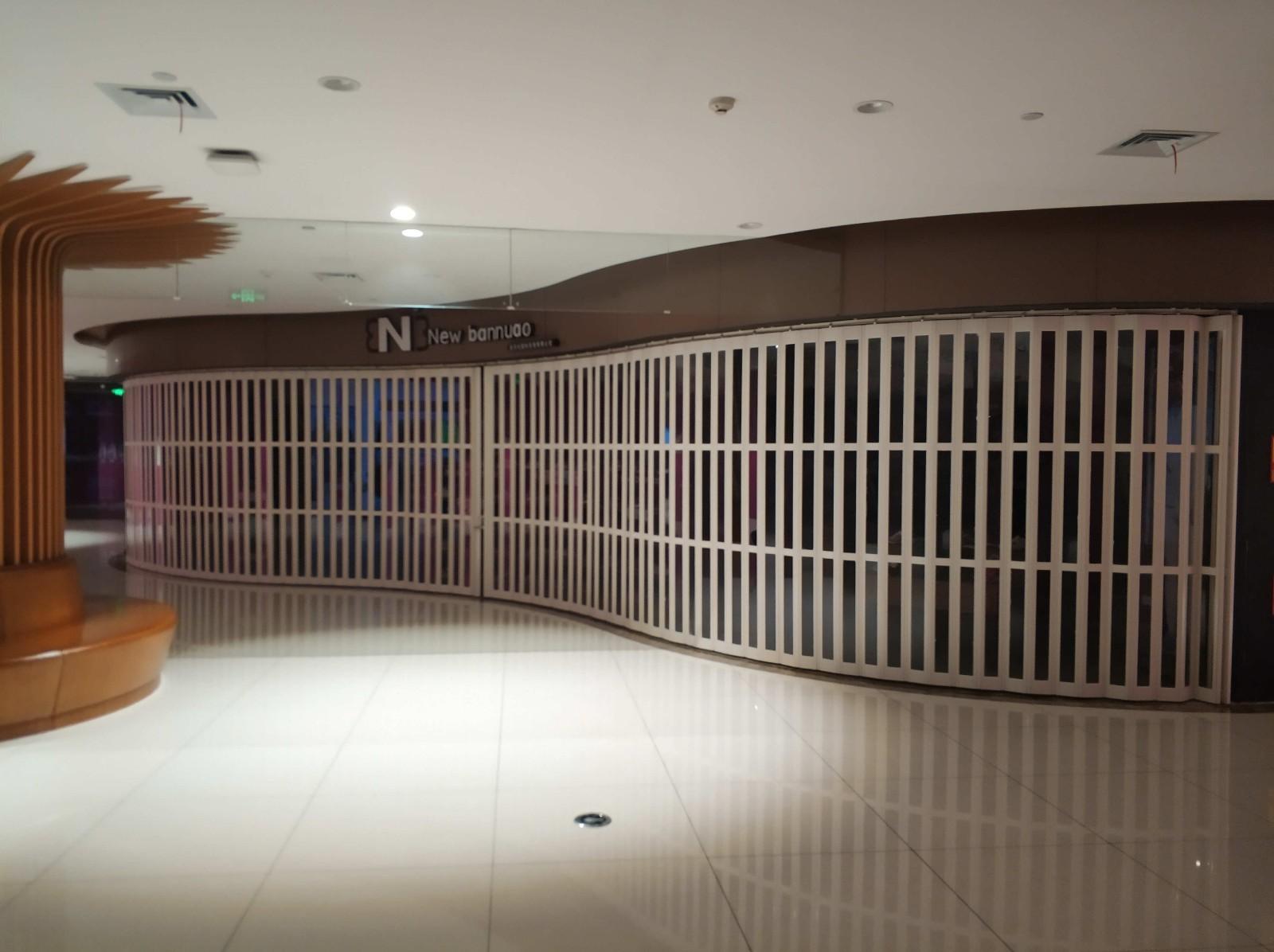 西安豪華PVC折疊門訂做