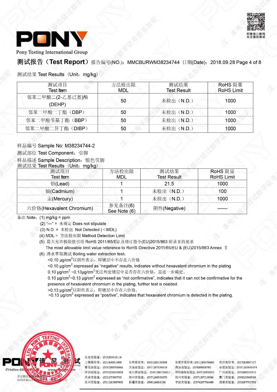 2018.11低壓瓷介電容 ROHS 2.0 六項+四項鄰苯