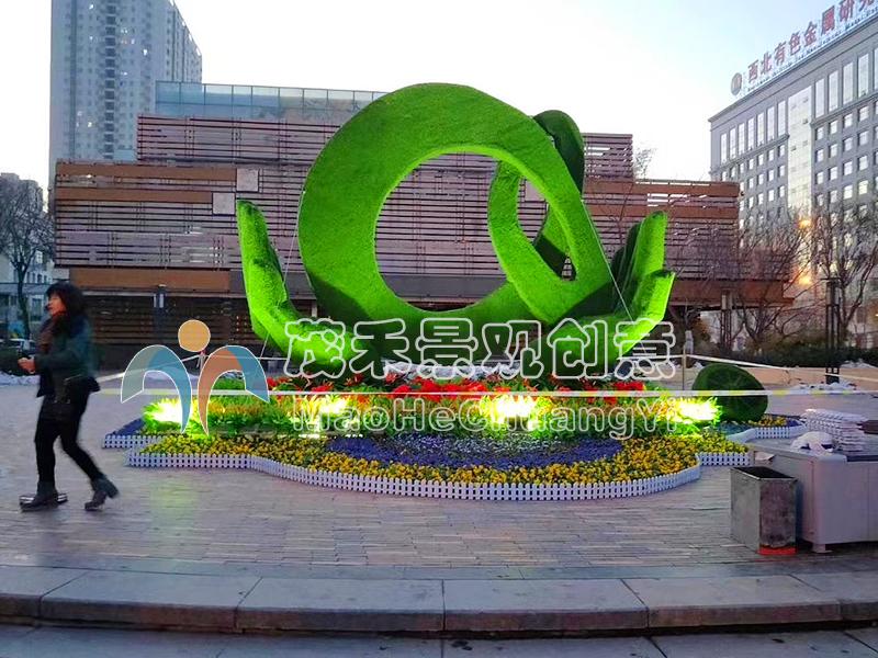 广场绿雕3