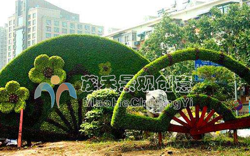 广场绿雕4