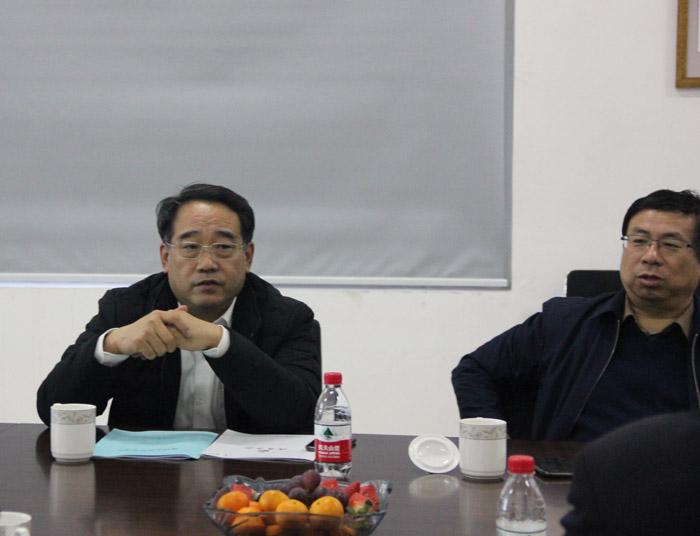 山东水发集团刘总一行考察