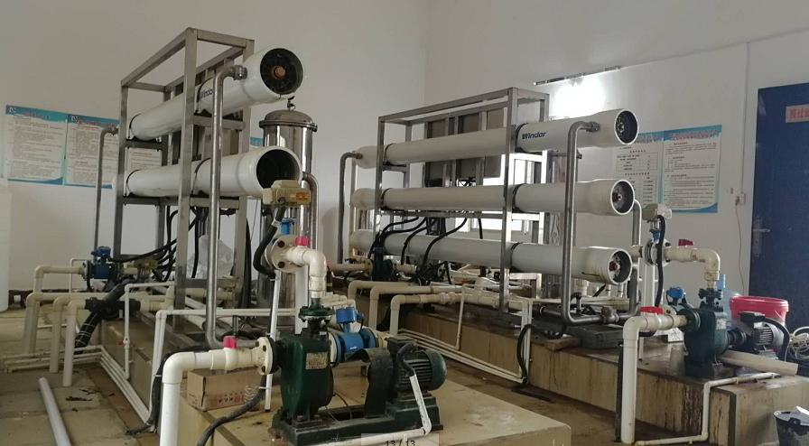 喜报|祝贺我司富川县环卫站纳滤系统在线清洗设备安装完毕!