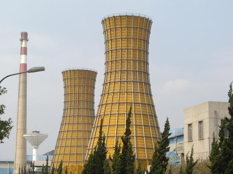 雙臺并聯雙曲線玻璃鋼冷卻塔