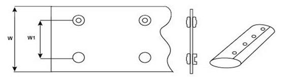 双色纽扣型扣式结束带