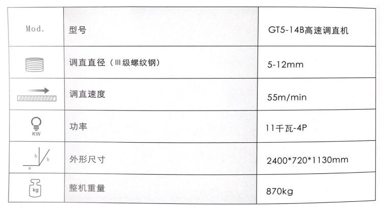 GT5-14B高速调直机