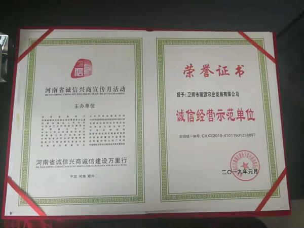 河南省十大诚信企业颁奖典礼