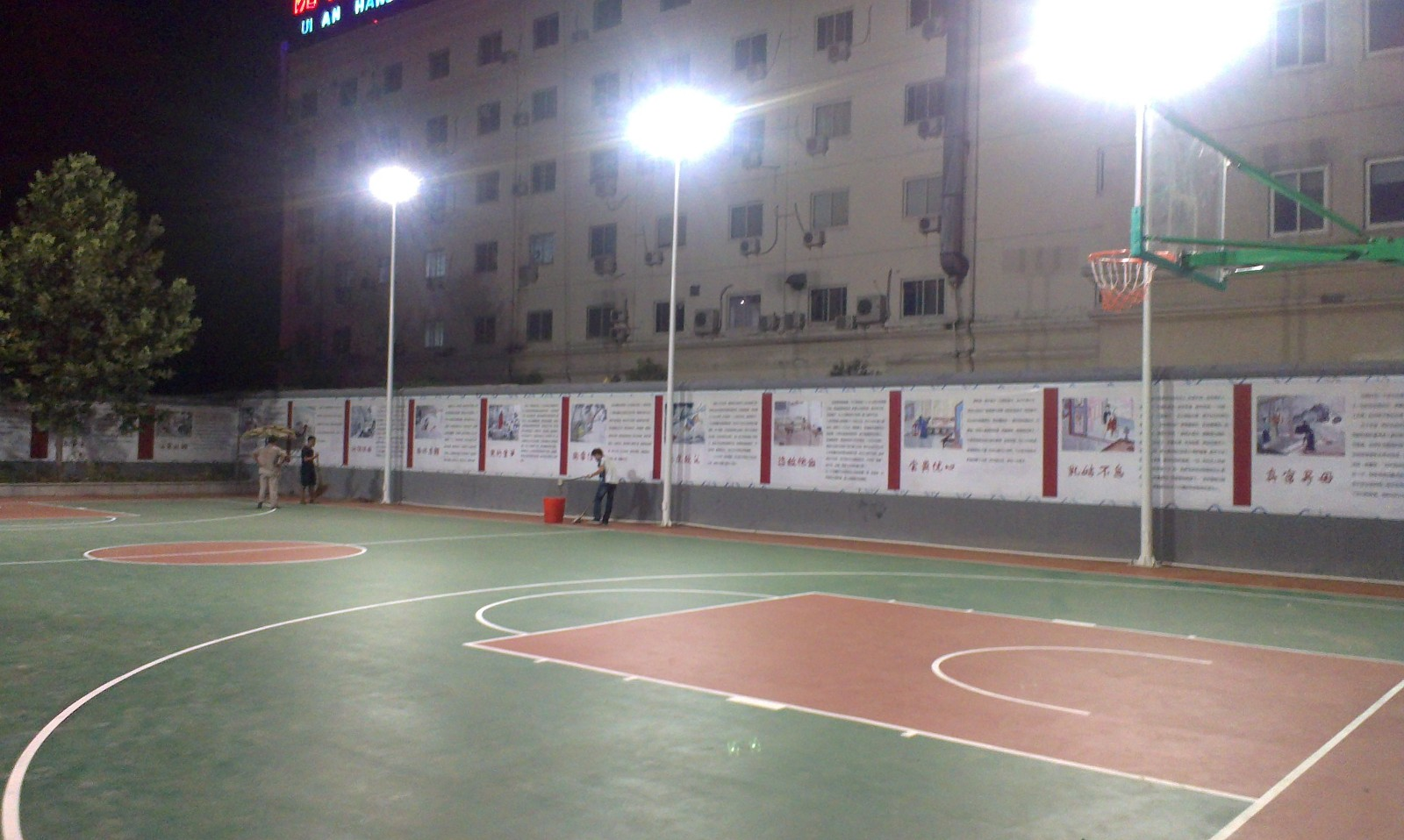 郑州篮球场施工