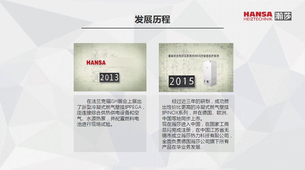 德国瀚莎HANSA壁挂炉宣传片