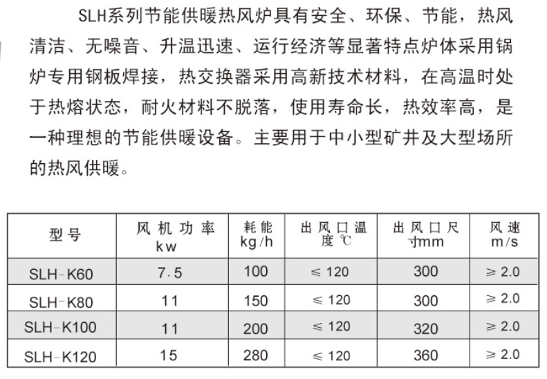 SLH系列节能供暖热风炉