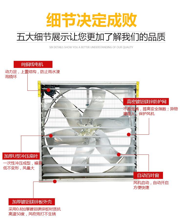 镀铝镁锌推拉风机