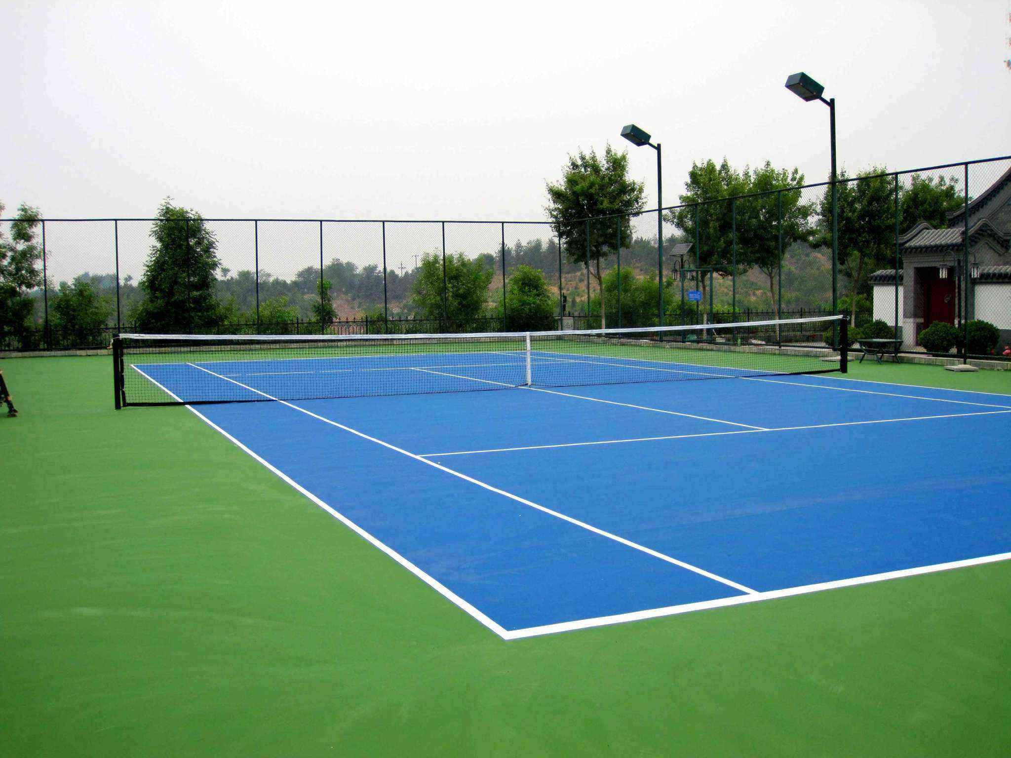 惠州硅pu羽毛球场