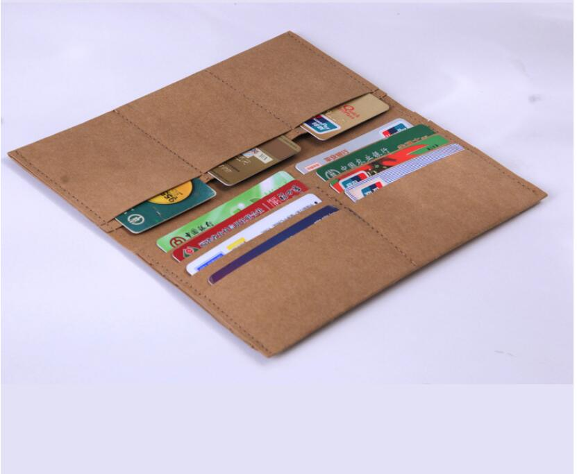 Washable kraft paper wallet wall