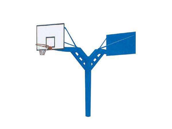 海燕式固定双位篮球架