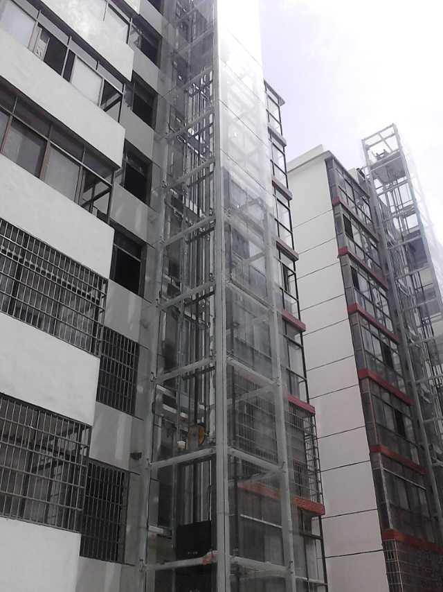 南陽淅川縣幸福家園小區電梯井道加裝項目