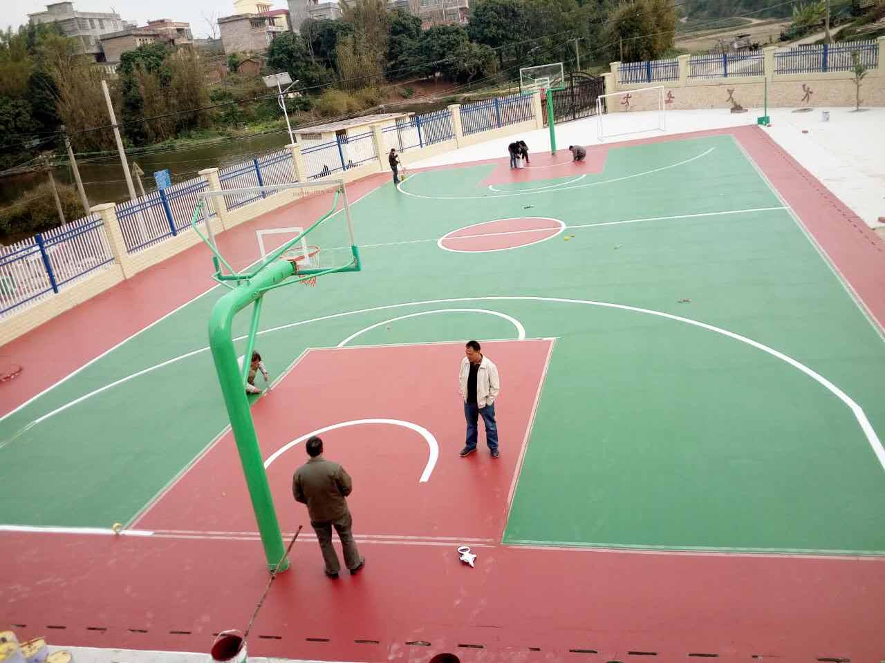 廣西籃球場施工廠家