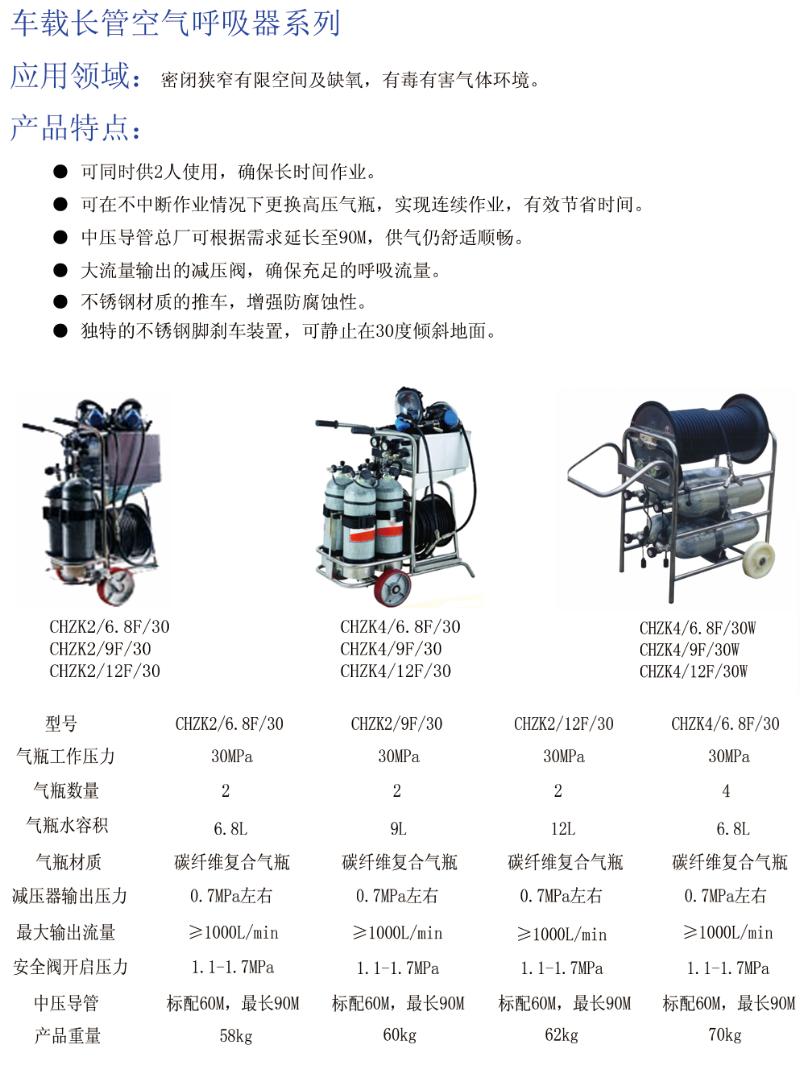 车载长管空气呼吸器系列