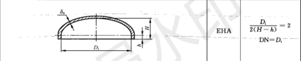 椭圆封头标准规格尺寸表