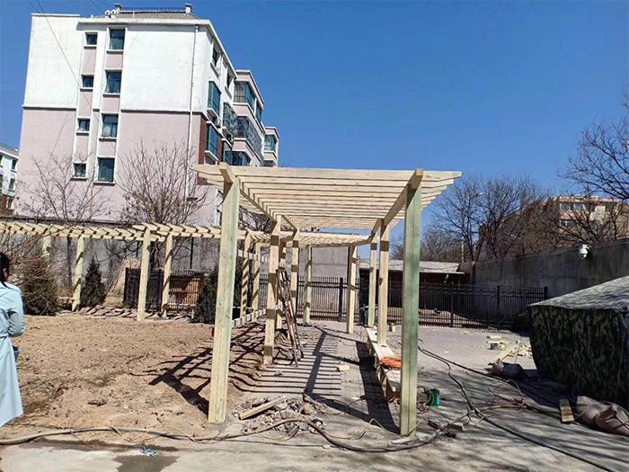 宁夏防腐木长廊