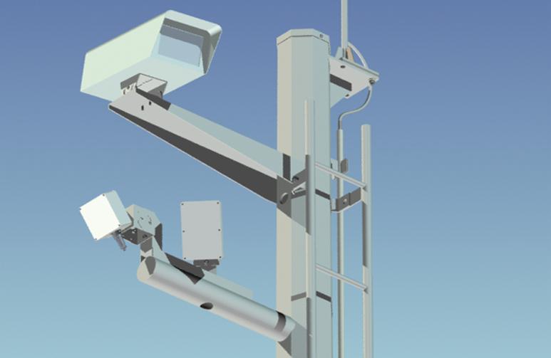智能交通信息监测仪是通过将微波检测