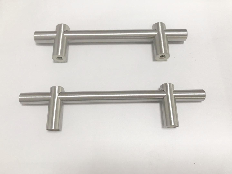 不锈钢实心T型圆管空心脚拉手