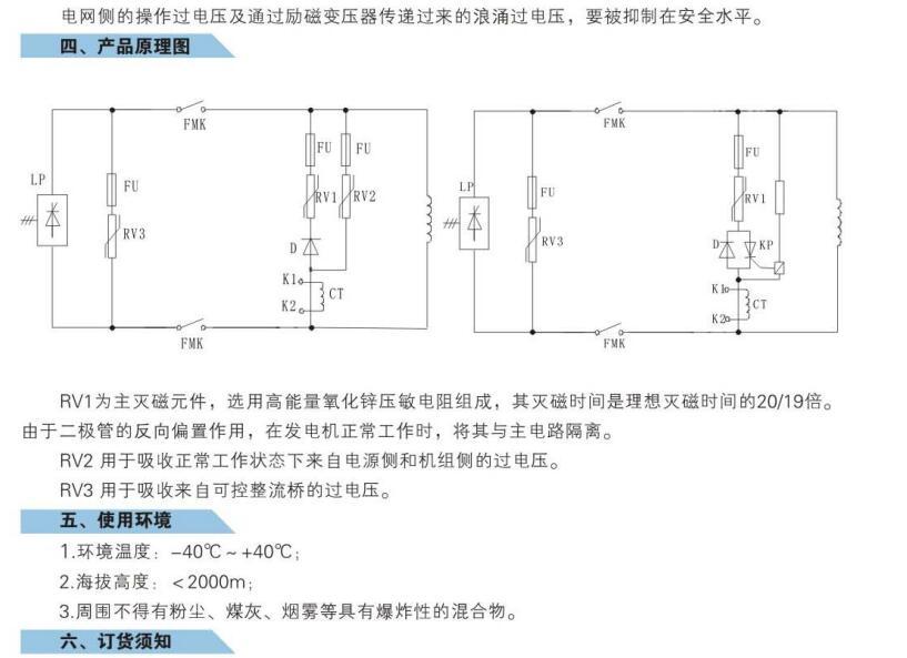 非线性灭磁电阻
