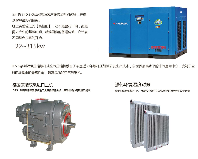 永磁雙級螺桿空氣壓縮機
