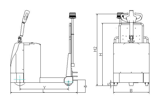 KLB30型 2/3吨电动牵引车