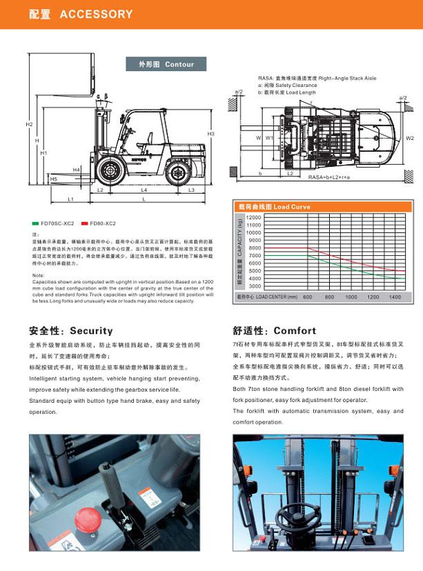 7T石材专用叉车8T内燃平衡重式叉车
