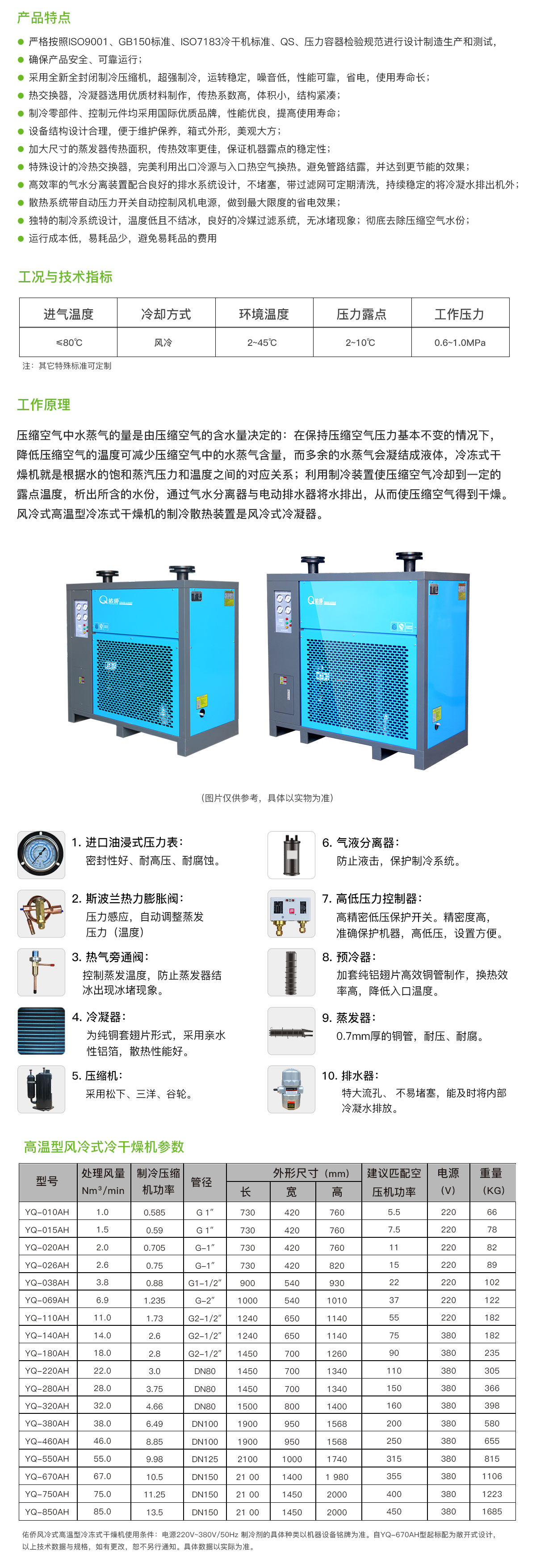高温型风冷式冷干机