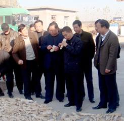 安阳市政协主席赵微在天尊公司视察