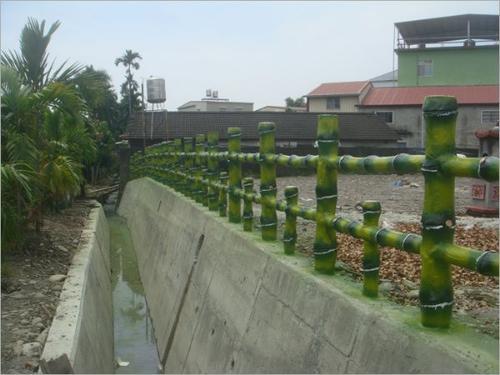 混凝土仿竹护栏