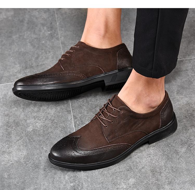 头层商务皮鞋