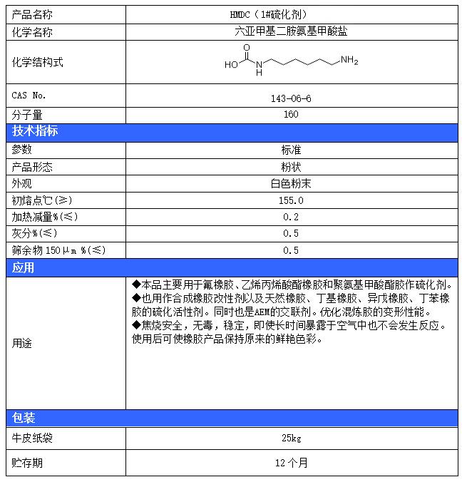 UHOO®HMDC(1#硫化剂)