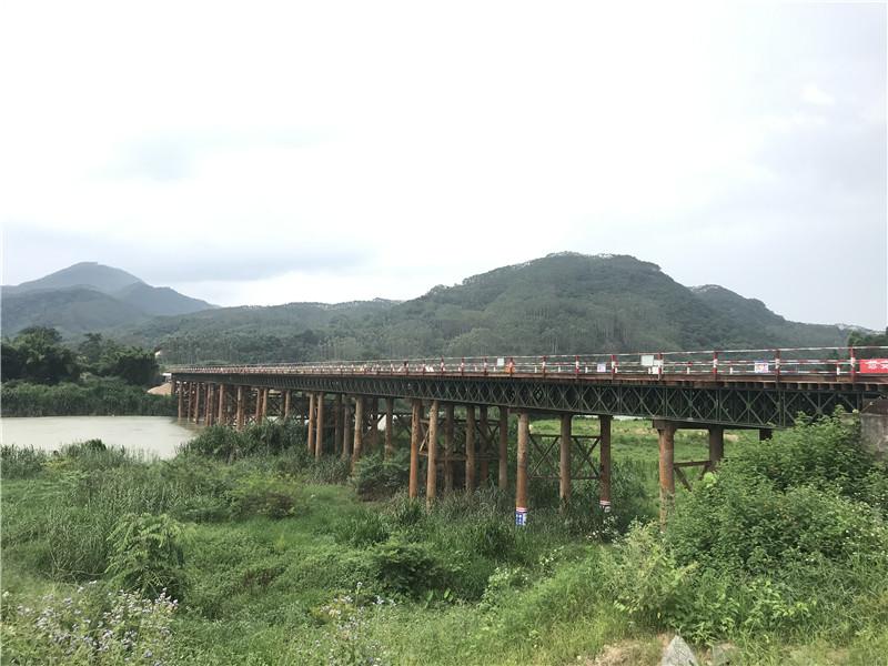 中交一公局厦门工程有限公司漳武高速南靖段A1标鸿砵大桥2号钢便桥项目工程