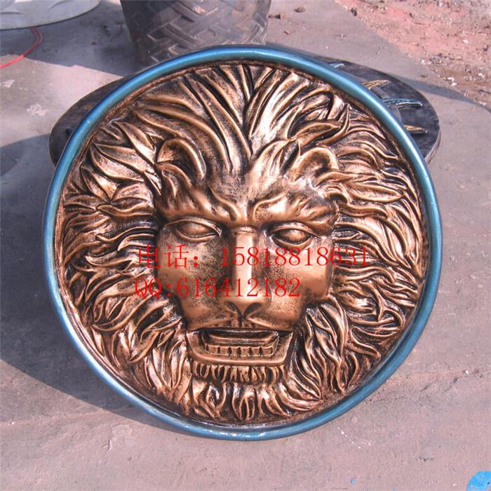 圆形狮头浮雕