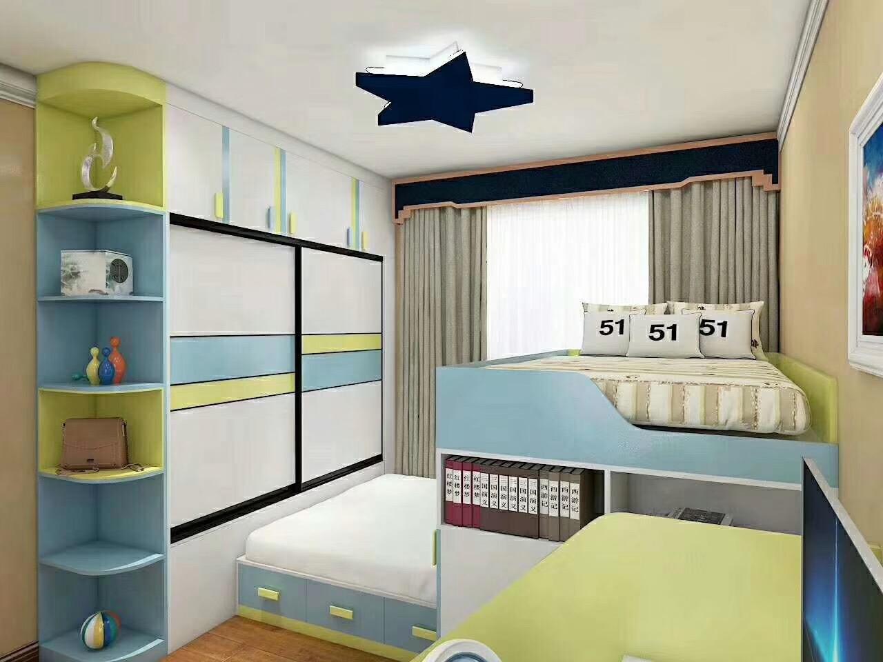 儿童床子母床衣柜床组合板式床可定制
