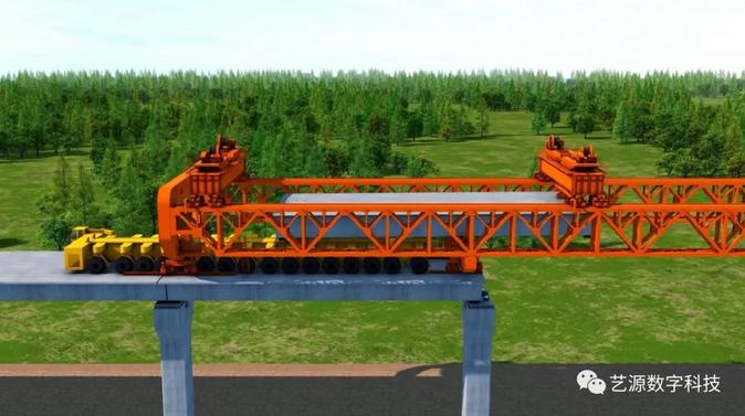 桥梁施工动画