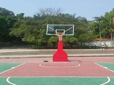 广西手动液压篮球架