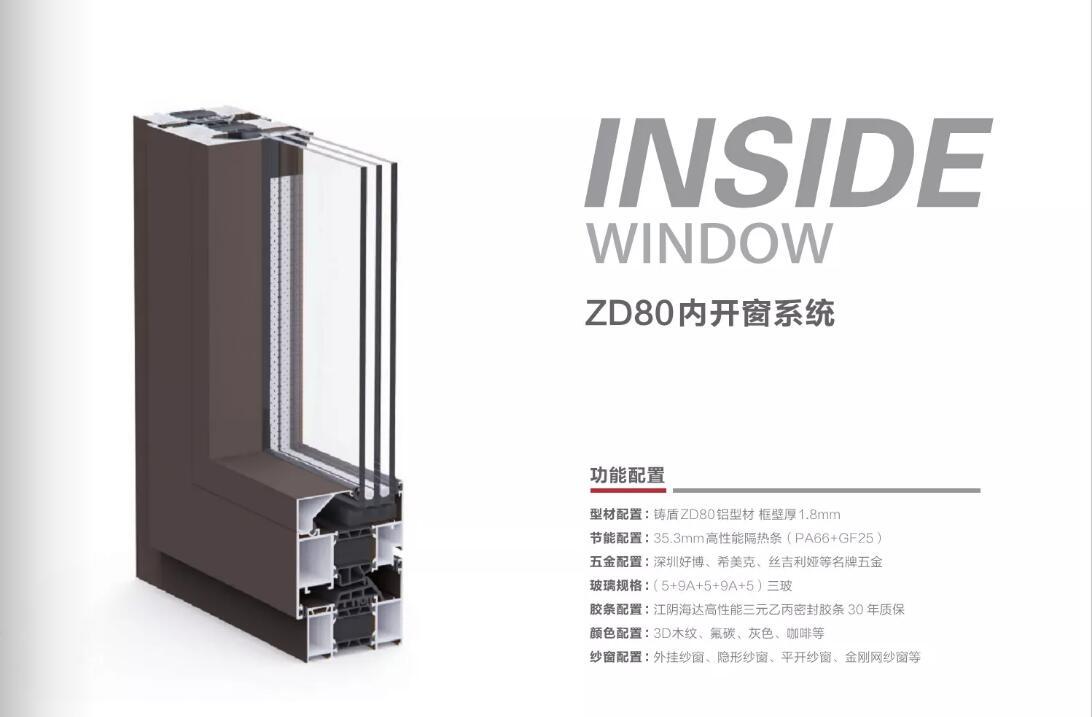 ZD80内开窗系统