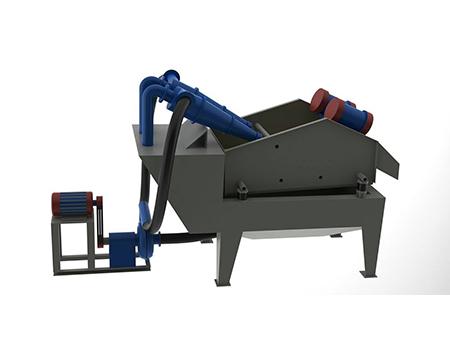 細砂回收一體機的是針對漿狀物料脫水、脫介、脫泥開發的設備,特點是可以很好的解決制砂行業的細砂流失問題。