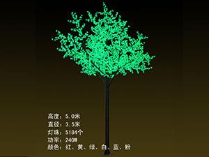 LED铁杆树灯-绿色