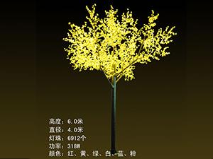 LED铁杆树灯-黄色