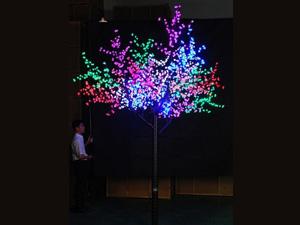 LED铁杆树灯-彩树