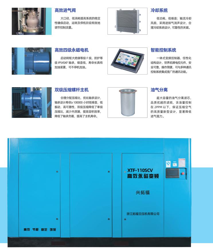興拓福雙級永磁變頻空壓機