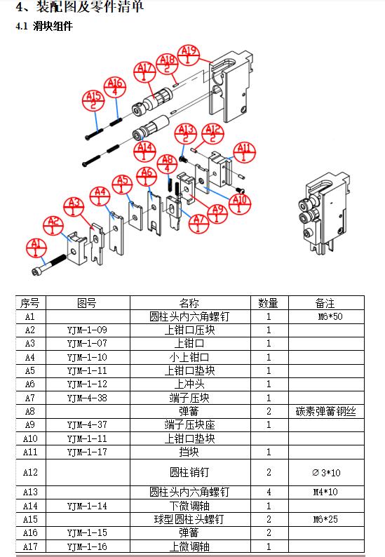 YJM-1 型压接模具