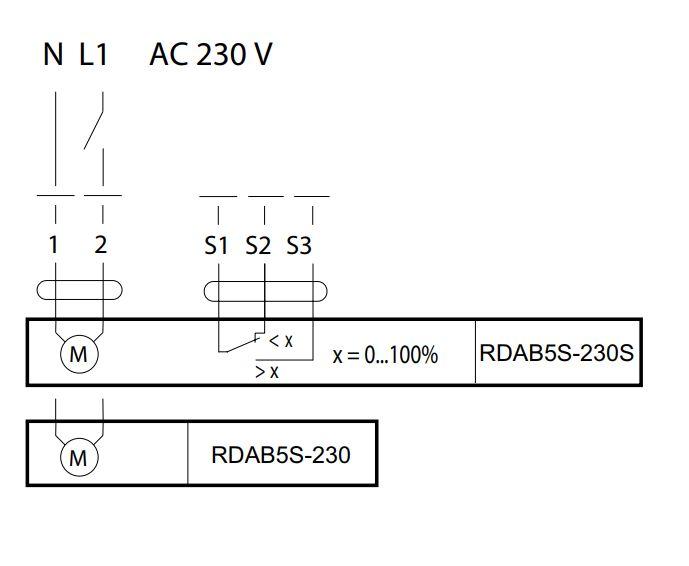 RDAB5S-230有弹簧复位4Nm风门执行器