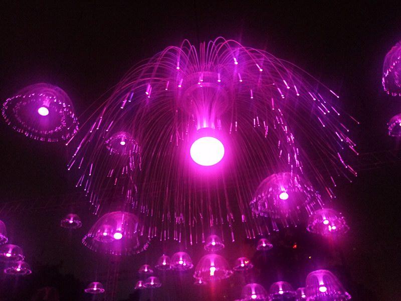 变色水母灯插地灯