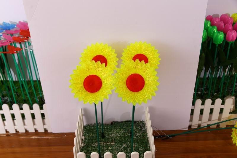 红心向日葵插地灯